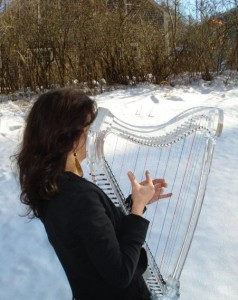 Ice Harp in a snowy world