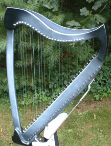 Silver and Black Electric Harp, Maple