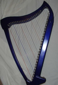 Purple Electric Harp