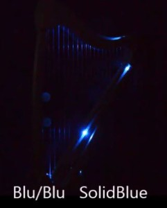YouTube video of harp LED effects