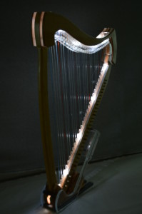 Figment 30 string internally lit Electric Harp
